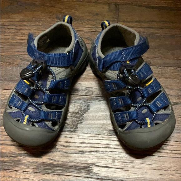 Navy Blue Keen Toddler Sandals Size